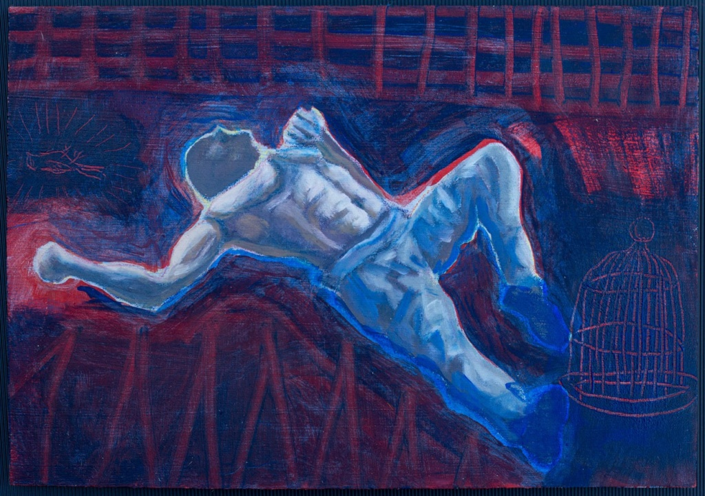 Painting from emerging young italian artist contemporary pittore italiano emergente resa quadro olio contemporaneo